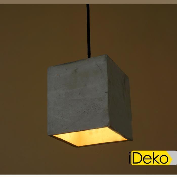 Ideko lampe de salon industriel clairage style vintage suspension abat jour pour lampe for Meuble pour lampe de salon