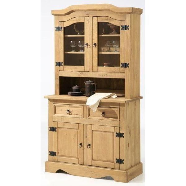 ensemble bahut vaisselier 2 portes en pin cir achat vente buffet bahut ensemble bahut. Black Bedroom Furniture Sets. Home Design Ideas