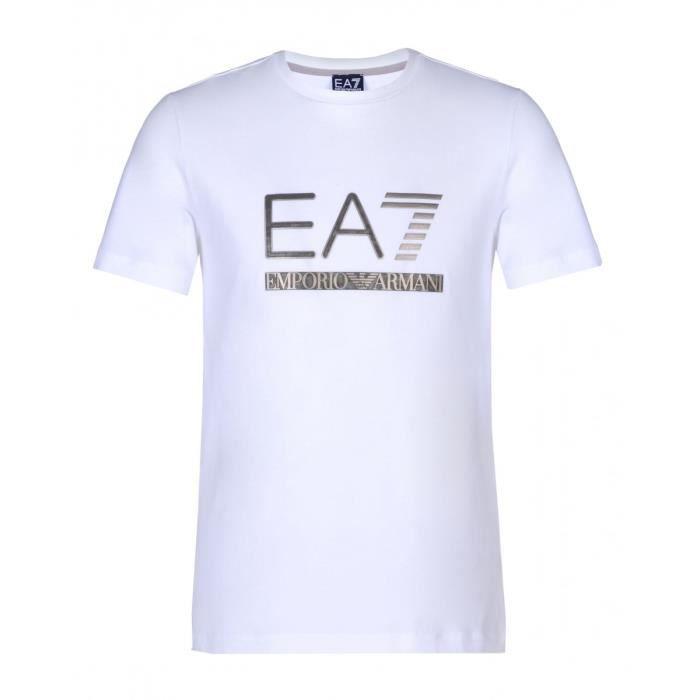 Tee-shirt EA7 Emporio Armani - 6XPTA5-PJ18Z-1100 Blanc Blanc - Achat ... c96a1407fbf