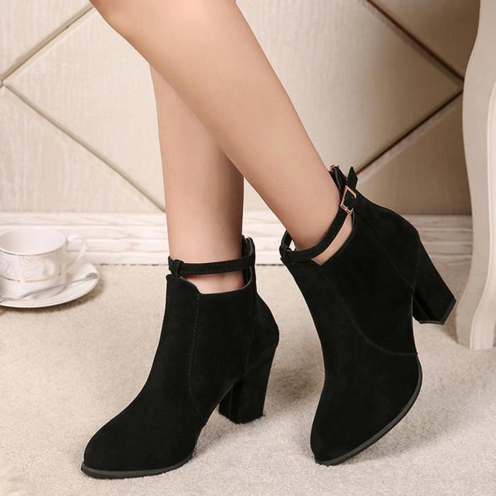 Chaud hiver chaussures femmes imperméables bottes de neige bottes à franges plates Bottines @BK ZhWW0KlAvk