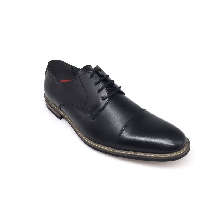 Dress Oxfords Shoes Italy Modern Designer Wingtip Captoe 2 Tone Lace Up Shoes T04J6 Taille-44 1-2