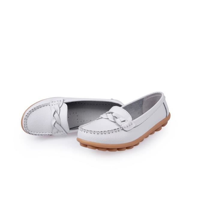 Mocassins Chaussures bateau Casual Slip Driving Flats QXB73 Taille-39