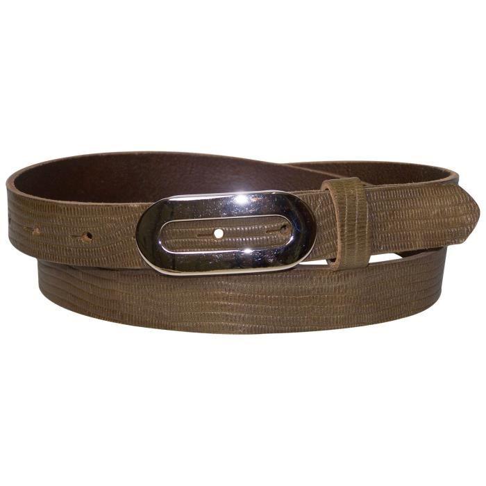 FRONHOFER Fine ceinture pour femme 2,5 cm ceinture imprimé peau de serpent  boucle ovale argentée ceinture en cuir véritable 18226 a82d20b188d