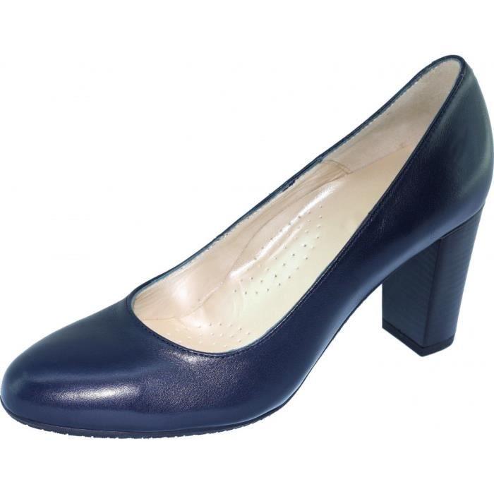 Escarpins femme bleu marine - Achat   Vente pas cher 56e9a00450f7