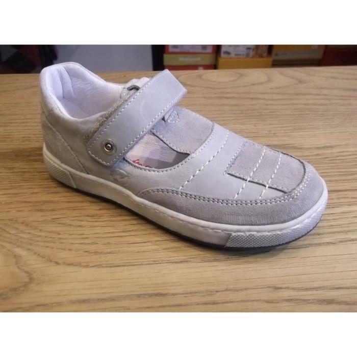 Chaussures enfants. Mi-saisons ajourées garçons à scratchs NATURINO P28