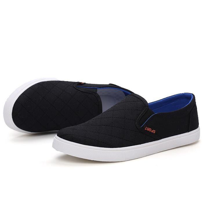 Chaussures En Toile Hommes Basses Quatre Saisons Élégant MMJ-XZ114Bleu44 ypKCoqo