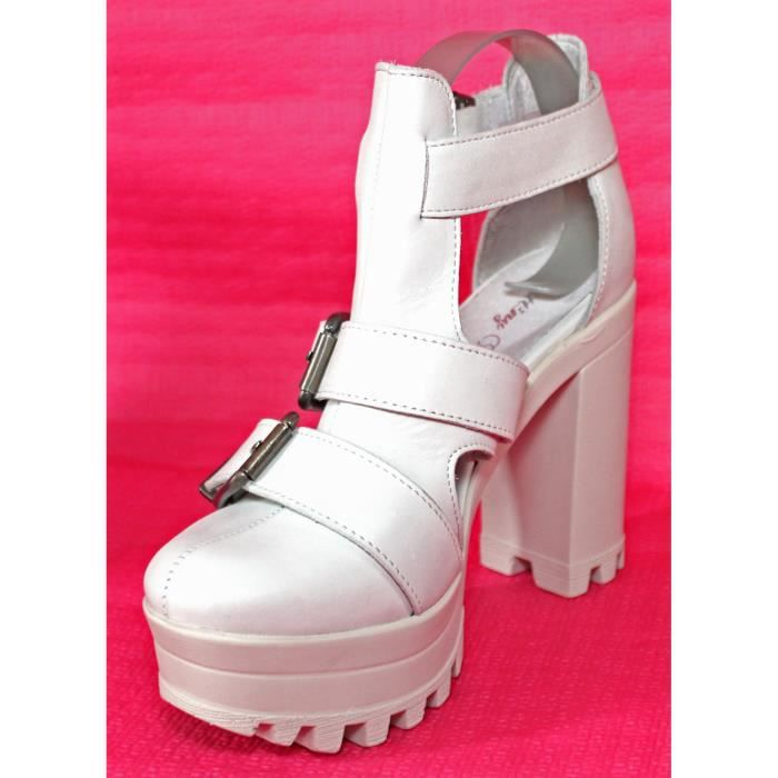 SANDALES CUIR CHAUSSURES MODE FEMME T 35