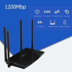 MODEM - ROUTEUR D12B Routeur sans fil WiFi 1200Mbps Dual Band 2.4G