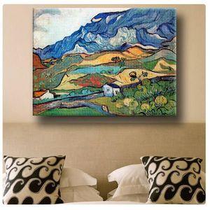 TABLEAU - TOILE Landscape Les Alpilles Alps Vincent Van Gogh IMPRI