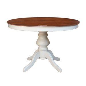 TABLE À MANGER SEULE Table ronde bicolore - 100cm
