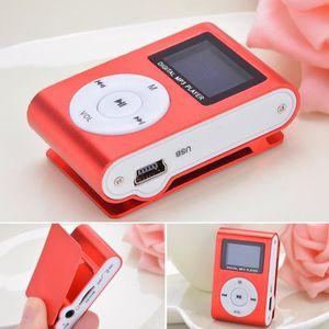 LECTEUR MP3 lecteur MP3 Mini Lecteur de musique clip USB FM Ra