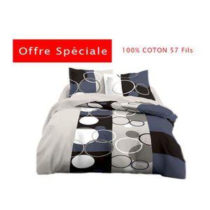 HOUSSE DE COUETTE HOU027 - HOUSSE DE COUETTE - 100% COTON - 2 PLACES