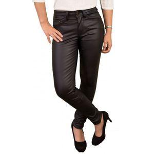 7781938b2c1d0 Jeans enduit noir femme - Achat   Vente pas cher