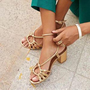 SANDALE - NU-PIEDS Femmes Fashion Open Platform Chaussures à talon ép