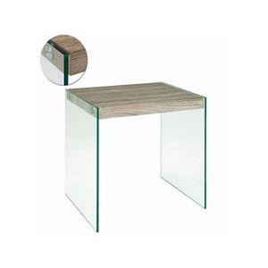 TABLE D'APPOINT Table d'appoint en tube d'acier, MDF Coloris Ch…