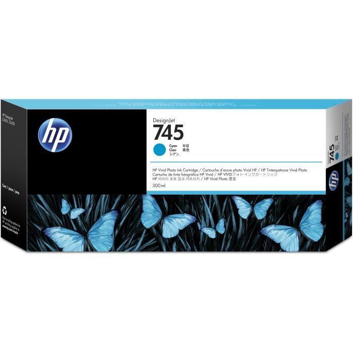 HP cartouche d'encre 745 - Cyan 300 ml