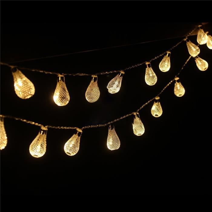 Évidé L'ampoule De t3360` Ruissellements Décorative Avec L'extérieur Mesh D'eau Lampe pznxpd