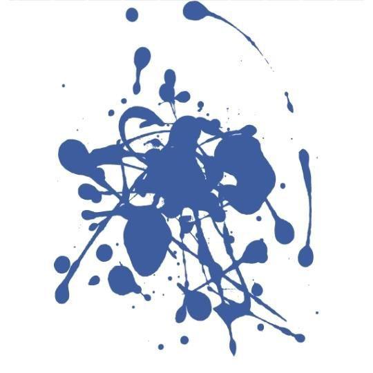 Stickers taches de peinture bleu achat vente stickers - Tache de javel sur tissu noir ...