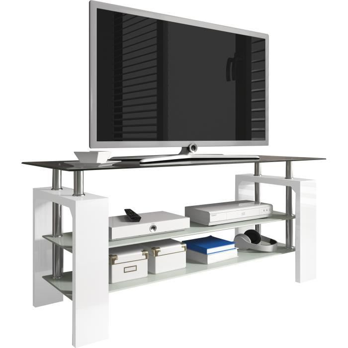 meuble tv design 3 plateaux en verre 110 cm colori Résultat Supérieur 50 Merveilleux Meuble Tv En Verre Design Pic 2018 Ksh4