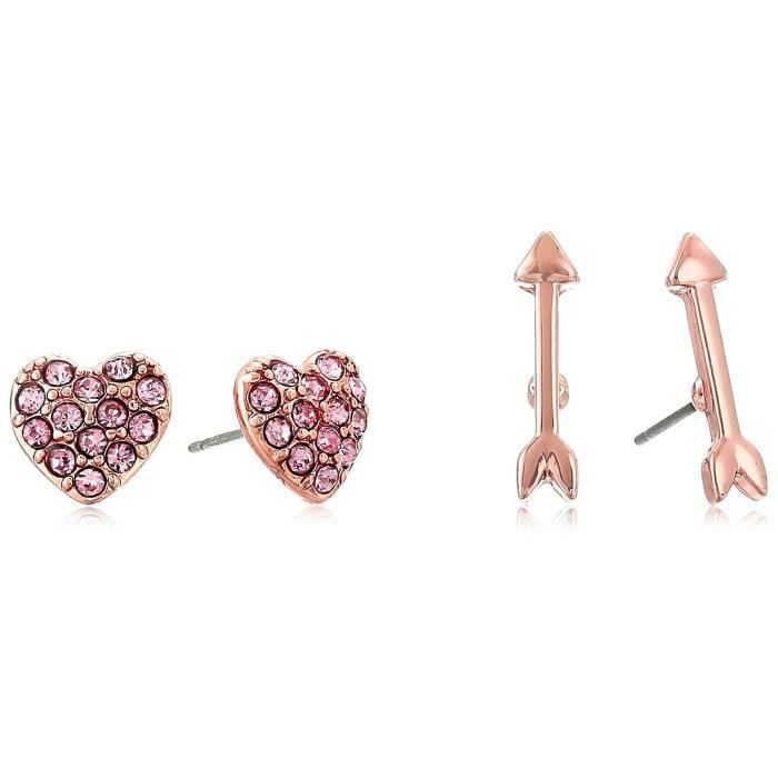 Betsey Johnson Womens Arrow-heart Earrings Set DMM83