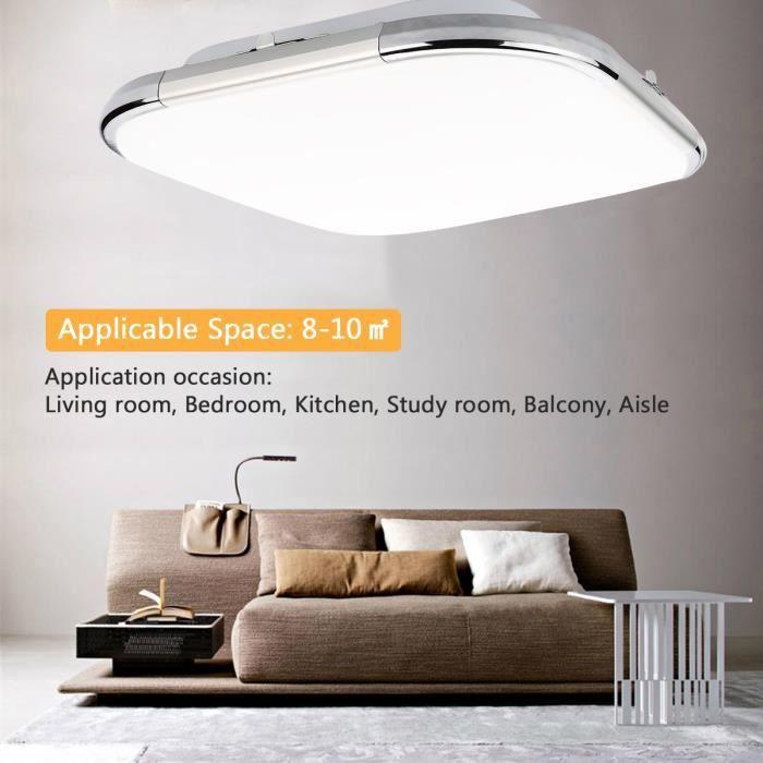 Lampwin 24w Led Plafonnier Carre Decor Lumiere Sur Plafond Lampe Designe Eclairage Moderne Blanc Pour Salon Bureau Salle De Bain
