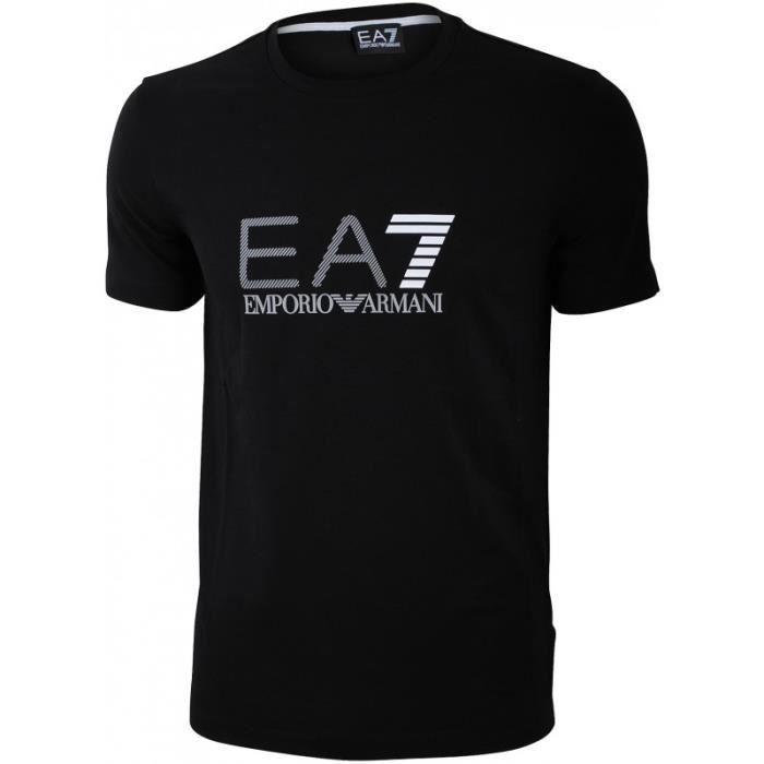 3386759eda18 T-Shirt Armani Homme Manche Courte Noir - Achat   Vente t-shirt ...