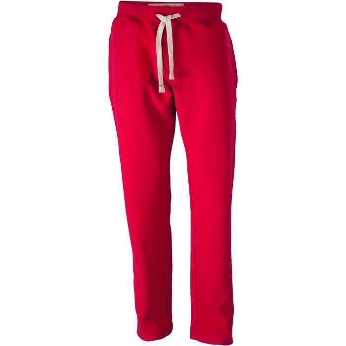 9048196c4b4 Pantalon jogging molletonné vintage coupe droite - homme - JN945 ...