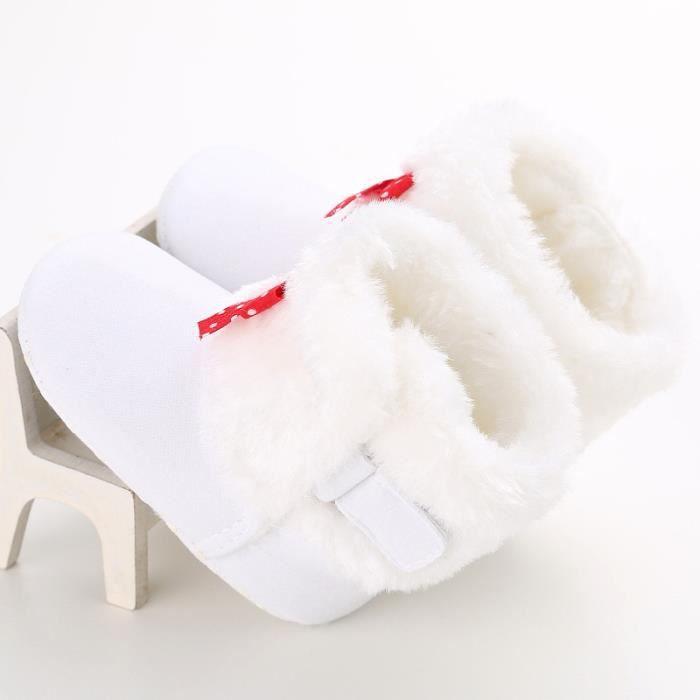 Blanc-Hiver Bébé Bottes de neige Tendance Loisirs Bowknot Chaussures de bébé en bas âge