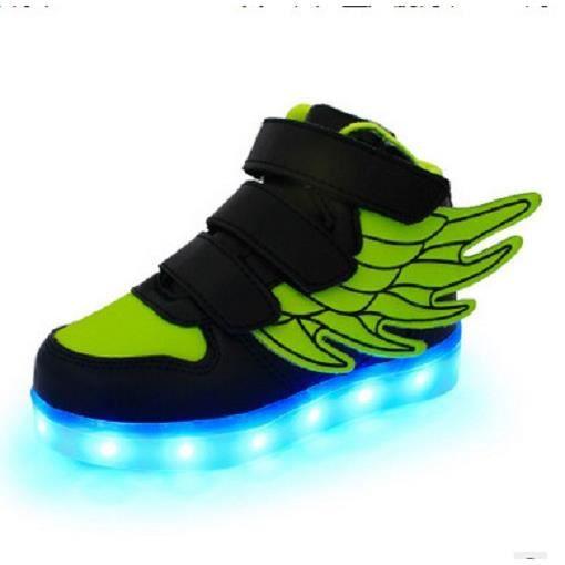 1d133b225fbbd Chaussures pour enfants brillent chaussures garçon fille de lumière ...