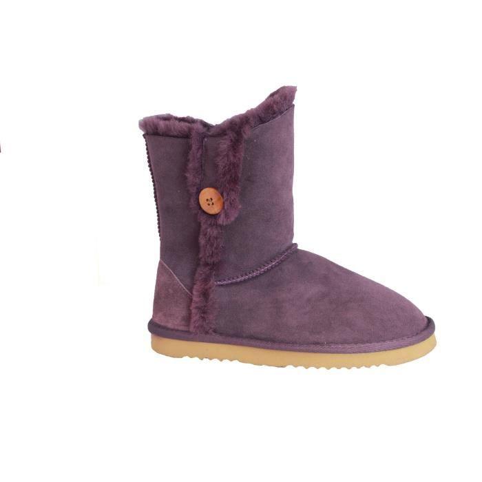 Eastern Counties Leather - Bottes Lacey en peau de mouton - Femme