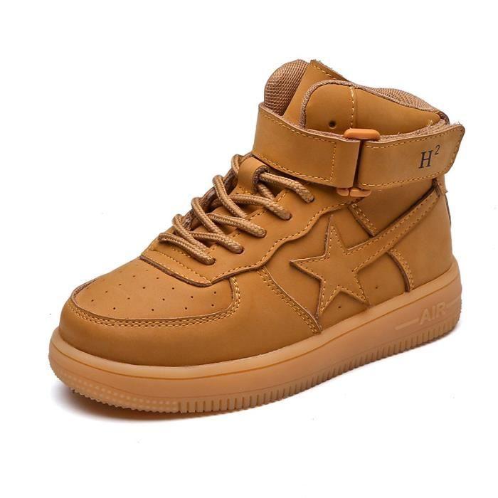 Basket Les enfants unisex tombent et les chaussures de sport décontractées en cuir d'hiver sURKefcMe
