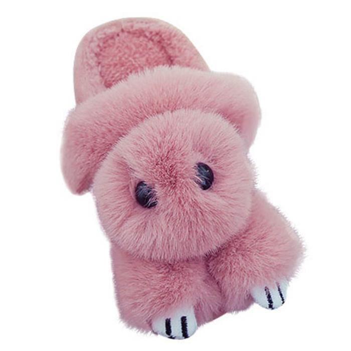 meilleur site web a0a1a 892b5 Pantoufle Chaude Pour enfant Dessin anime Taille 23 Rose clair