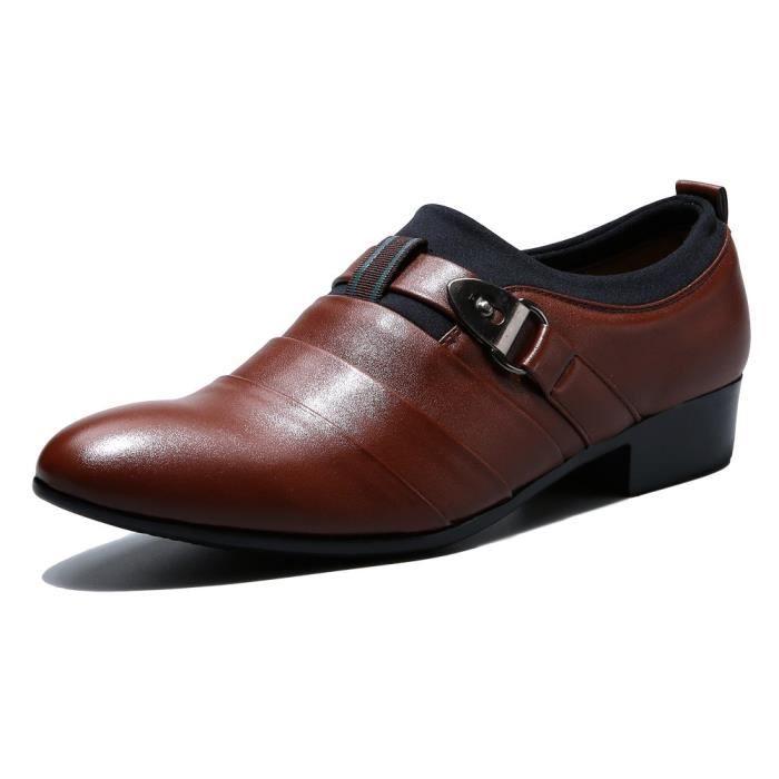 Slip On Tuxedo Oxford Monk Bracelet Chaussures Robe M1GTB Taille-40 1-2