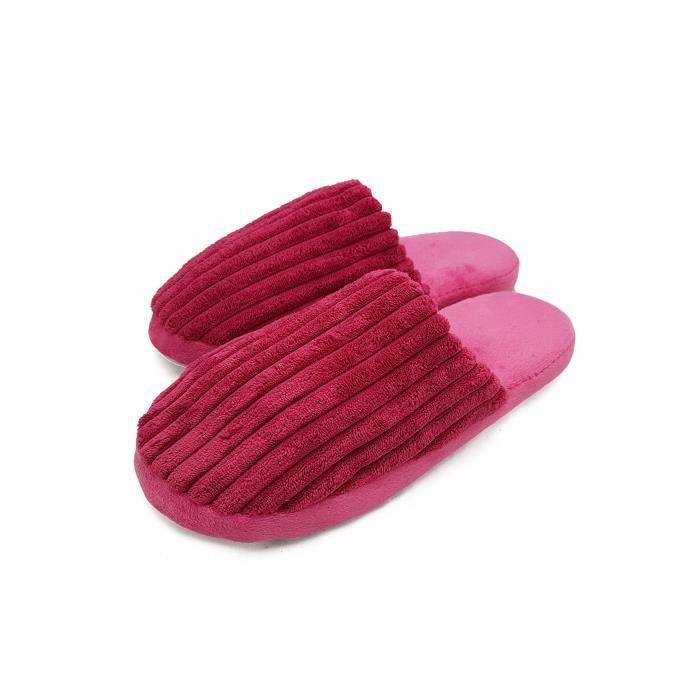 glissement de confort unisexe des femmes sur les orteils fermés à l'intérieur sabot maison pantoufle verti OLTWK Taille-38