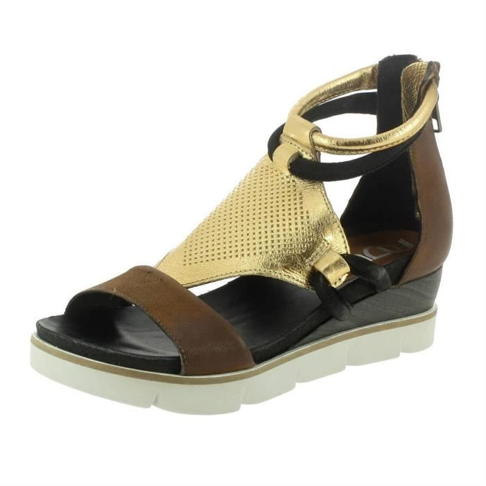 2bfed30bf16a Sandales   nu-pieds 866002 femme mjus 866002 Marron Marron - Achat ...