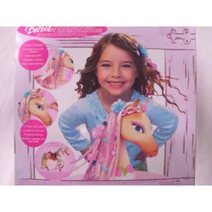 tete a coiffer barbie achat vente jeux et jouets pas chers. Black Bedroom Furniture Sets. Home Design Ideas