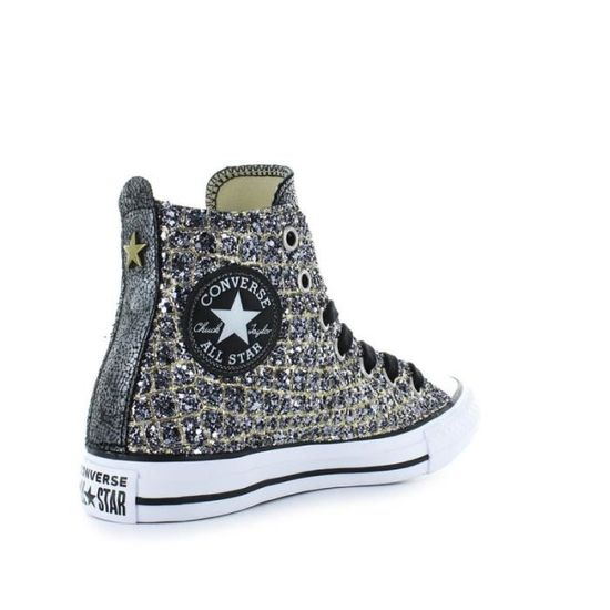 60bc64b2a8fd0 BASKETS CONVERSE ALL STAR CROCO OR ARGENT Argent - Achat   Vente basket -  Cdiscount