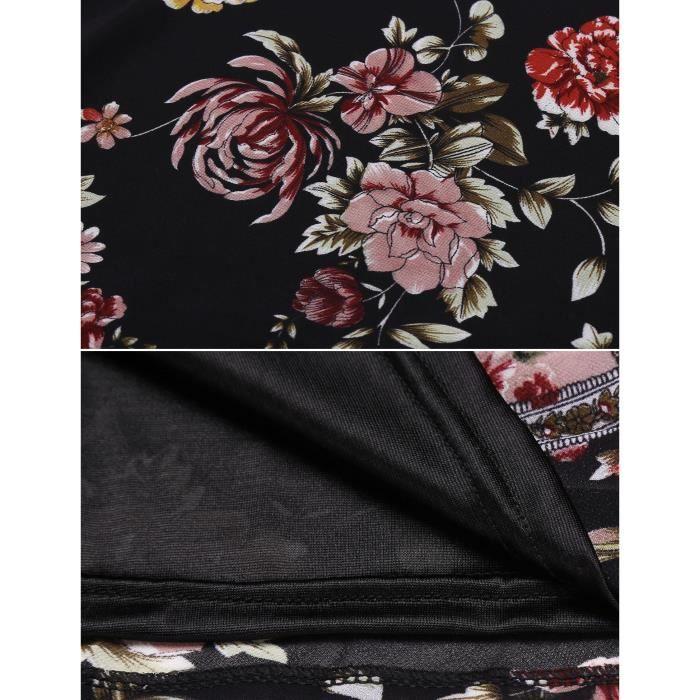 Femme A Ligne Robe courte Vintage Style Sans manches en mousseline de soie de soie Patchwork