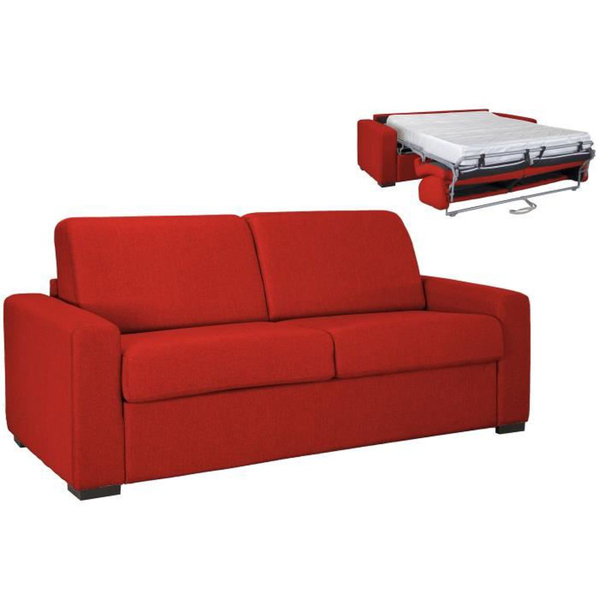 design de qualité 474ed 26be4 Canape rapido couchage quotidien rouge