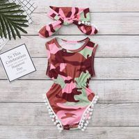 Ensemble de vêtements Infant Camouflage Imprimer Jumpsuit Romper Bodysui