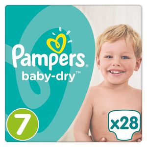 COUCHE Couches-culottes Pampers Baby-Dry7(17+ kg), Lot