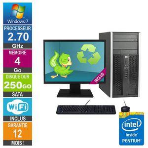 UNITÉ CENTRALE  PC HP Pro 6200 MT Pentium G630 2.70GHz 4Go-250Go W