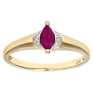 BAGUE - ANNEAU Revoni Bague Solitaire Rubis et Diamant Or Jaune 3