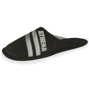 69db6eaf0b46b MULE Chaussons homme Athena sportswear - Noir - 92009-A ...