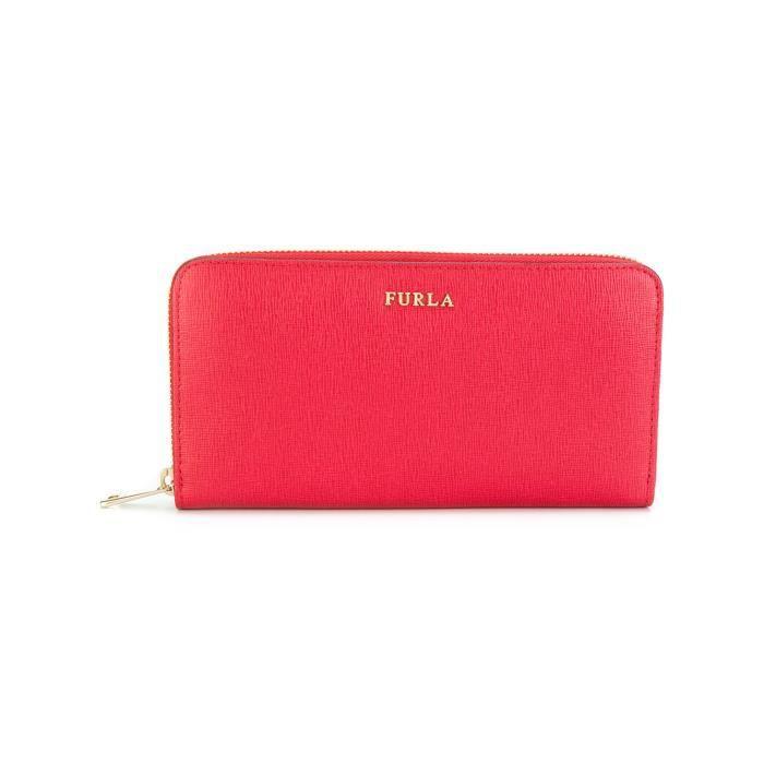 FURLA FEMME 903615RUBY ROUGE CUIR PORTEFEUILLE Rouge - Achat   Vente ... 5fff2d463f8