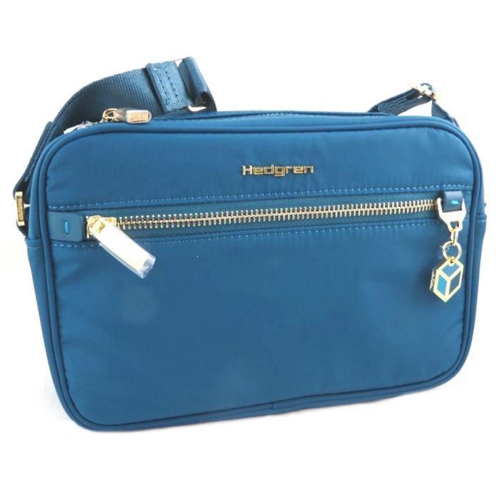 Sac bandoulière Hedgren bleu corsaire - 23x15x6 cm [P8566]