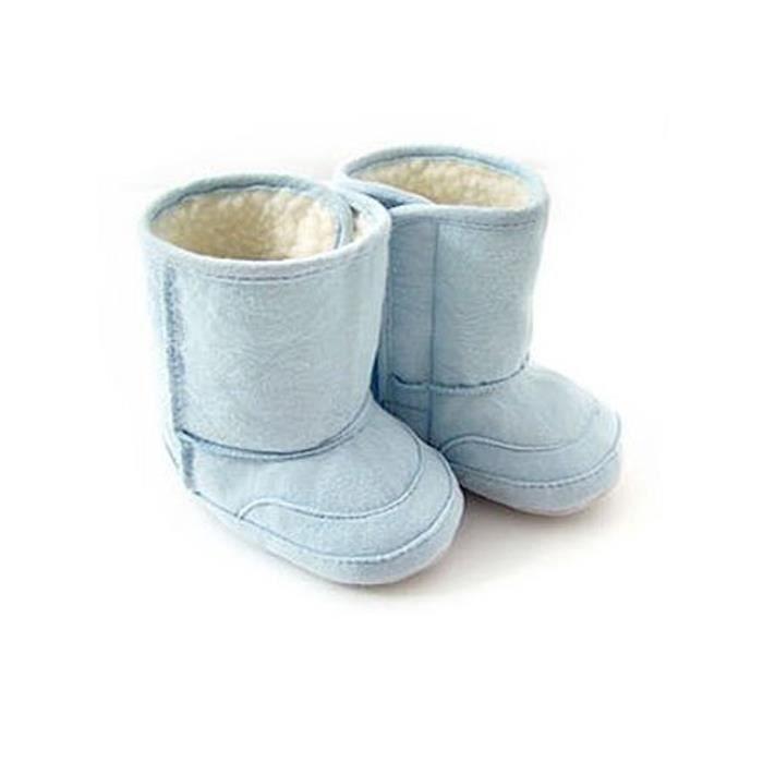 infant toddler Garçon chaude fourrure bleu garnitures bottes souliers de neige en hiver