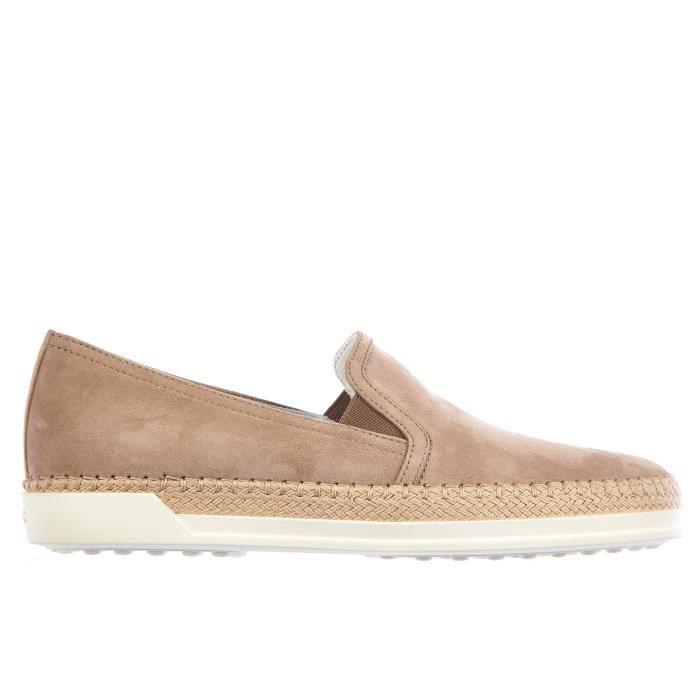 Slip on femme en daim sneakers hr0 Tod's