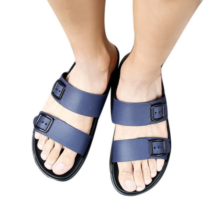 Sandales Chaussons Doux Chaussures Tongs Loisirs Bleu Confortables Hommes D'été OZikuPX