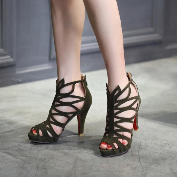 Femme Hauts Talon Sandales Fermé Chaussures Talons À Chaussure Des wA76z